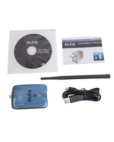 ALFA USB Stick AWUS036NHV, 2,4GHz, 32dBm + 5dBi dipole antenna
