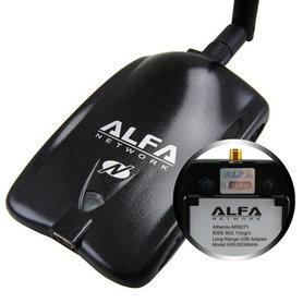 ALFA AWUS036NHA 630 mW 802.11b/g/n USB WLAN Adapter met U-Mount Set