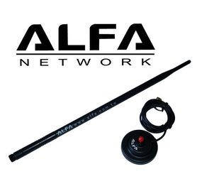 ALFA Network ARS-N19MBP - 2.4GHz 9dBi Antenne met magnetische voet en RP-SMA connector